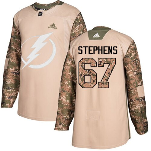 Adidas NHL Youth Mitchell Stephens Camo Authentic Jersey - #67 Tampa Bay Lightning Veterans Day Practice