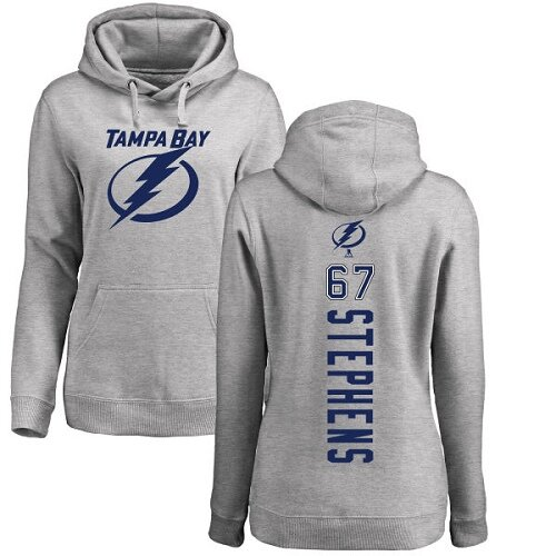 Adidas NHL Women's Mitchell Stephens Ash Backer - #67 Tampa Bay Lightning Pullover Hoodie
