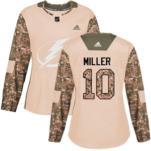 Adidas NHL Women's J.T. Miller Camo Authentic Jersey - #10 Tampa Bay Lightning Veterans Day Practice