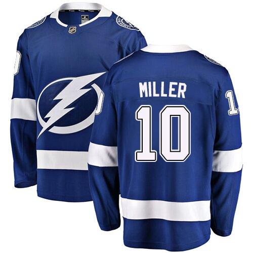 Fanatics Branded Hockey Men's J.T. Miller Royal Blue Home Breakaway Jersey - #10 Tampa Bay Lightning