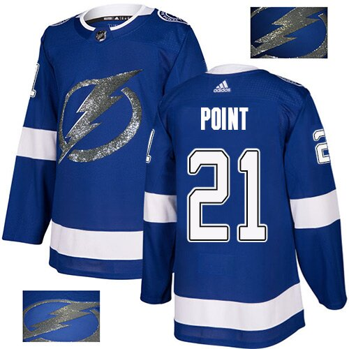 Adidas NHL Men's Brayden Point Royal Blue Authentic Jersey - #21 Tampa Bay Lightning Fashion Gold