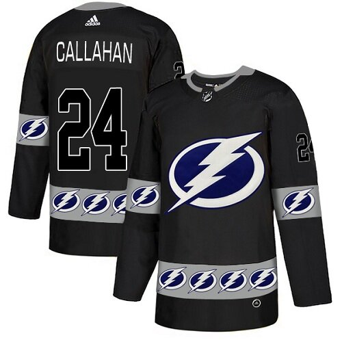 Adidas NHL Men's Ryan Callahan Black Authentic Jersey - #24 Tampa Bay Lightning Team Logo Fashion